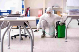 What is the best way to disinfect an office in West Terre Haute
