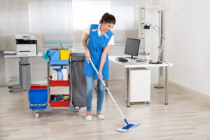 How do I clean my office during the COVID-19 outbreak